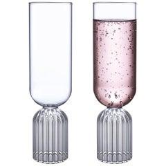 Paar Tschechischer Zeitgenössischer Mai Champagner-Gläser, Handgefertigt, auf Lager