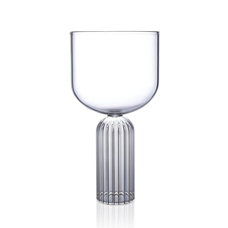 EU Clients Pair of Czech Contemporary May Large Glasses Handmade, in Stock EU In New Condition For Sale In Milan, IT