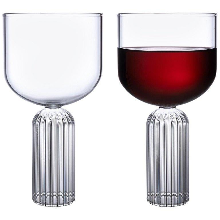 EU Clients Pair of Czech Contemporary May Large Glasses Handmade, in Stock EU For Sale