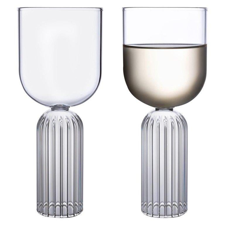 EU Clients Pair of Czech Contemporary May Medium Glasses Handmade, in Stock