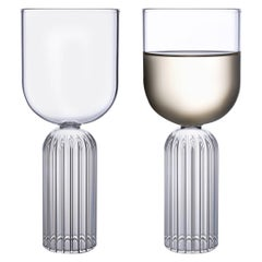 Pair of Czech Contemporary May Medium Glasses Handmade, in Stock