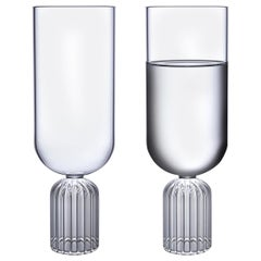 Pair of Czech Contemporary May Medium Tall Glasses Handmade, in Stock