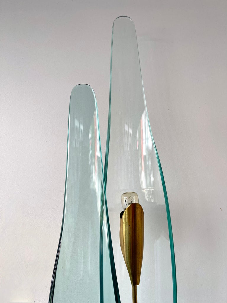 Pair of Dahlia Sconces by Max Ingrand for Fontana Arte, Italy, 1950s For Sale 2
