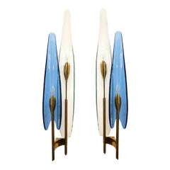 "Pair of ""Dalia"" Sconces by Max Ingrand for Fontana Arte"