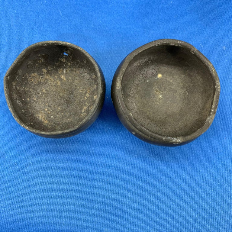 Pair Of Danish 18th Century Pewter Salt Cellars For Sale 3