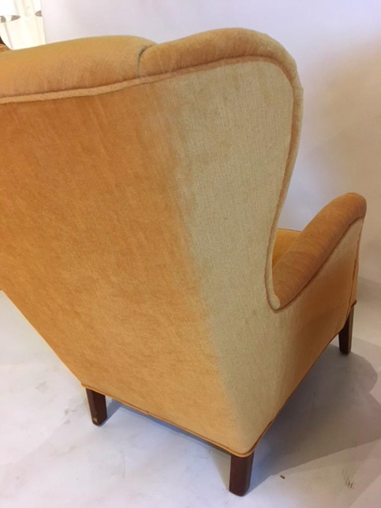 Pair of Danish 1930s-1940s Wing Chairs In Good Condition For Sale In Hudson, NY