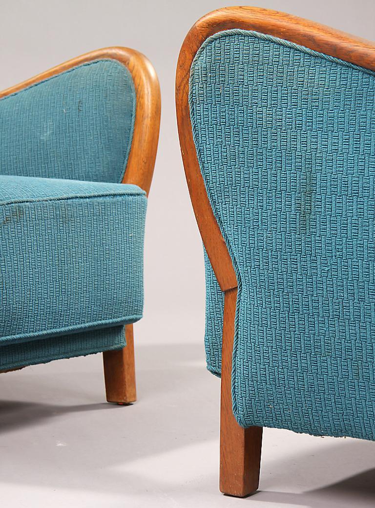 Scandinavian Modern Pair of Danish 1940s Armchairs For Sale