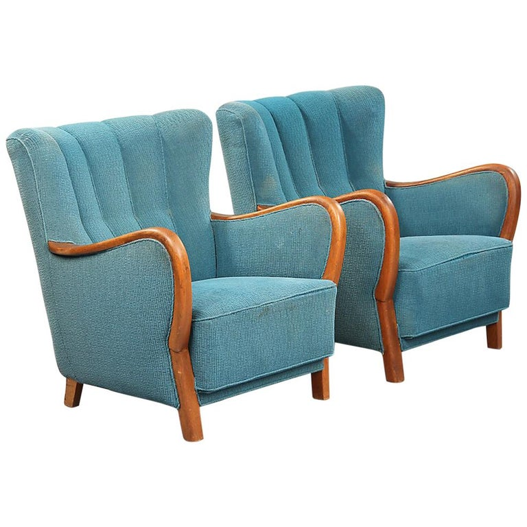 Pair of Danish 1940s Armchairs For Sale