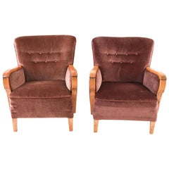 Pair of Danish 1940s Club Chairs