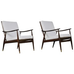 Pair of Danish Armchairs, 1960s