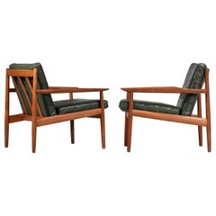 Pair of Danish Armchairs by Designer Arne Vodder for Glostrup Scandinavian Teak