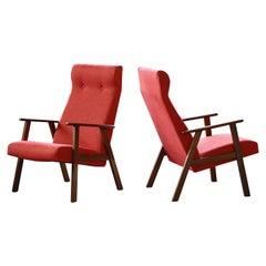 Pair of Danish Arne Vodder Style Midcentury Easy Chairs in Teak