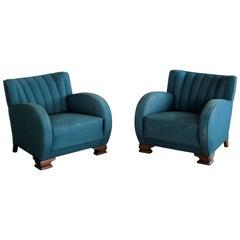 Pair of Danish Art Deco Club Chairs, 1930s, 1920s