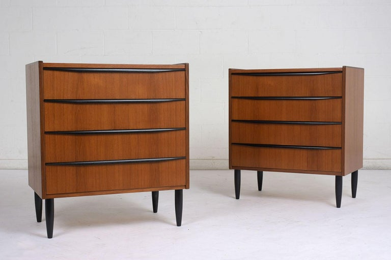 Pair Of Danish Bachelor Chests At 1stdibs