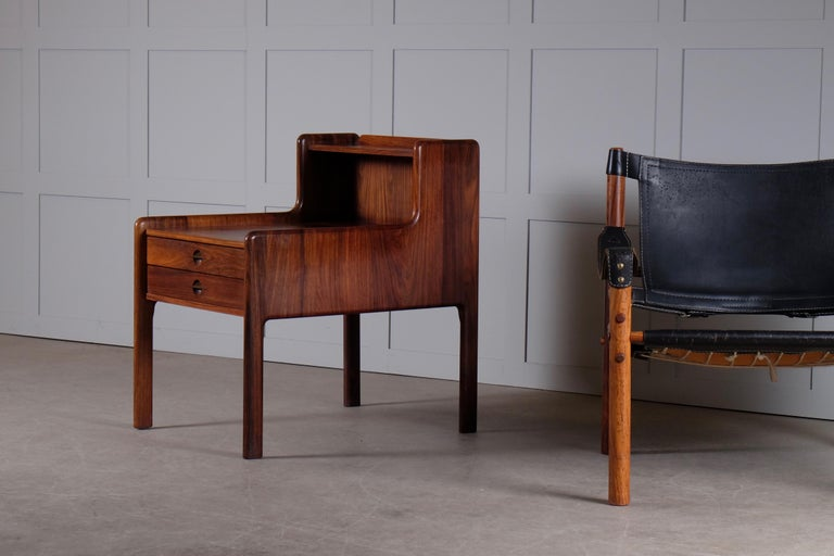 Pair of Danish Bedside Tables in Rosewood, 1960s For Sale 6