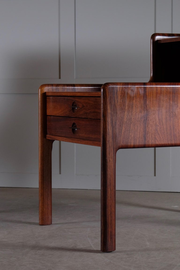 Pair of Danish Bedside Tables in Rosewood, 1960s For Sale 7