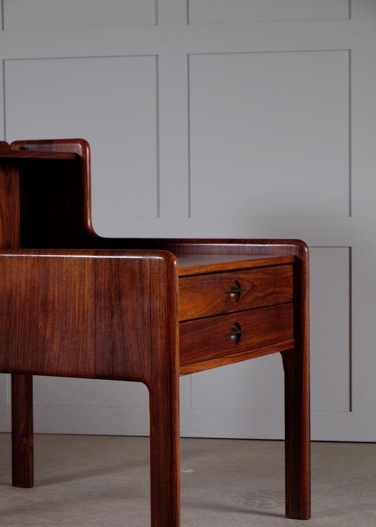 Pair of Danish Bedside Tables in Rosewood, 1960s For Sale 2
