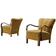 Pair of Danish Bentwood Armchairs
