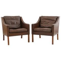 Pair of Danish Børge Mogensen Model 2207 Chairs