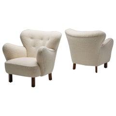 "Pair of Danish Cabinetmaker ""Polar"" Chairs, Denmark, 1940s"