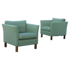 Pair of Danish Club Chairs in Classic Børge Mogensen, Kaare Klint Style