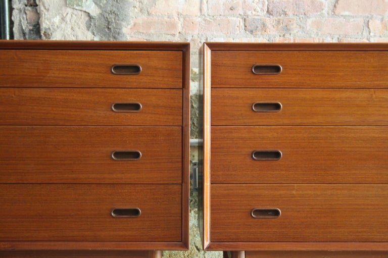 Pair of Danish Dressers or Chests by Arne Vodder for Sibast Mobelfabrik, Denmark For Sale 4