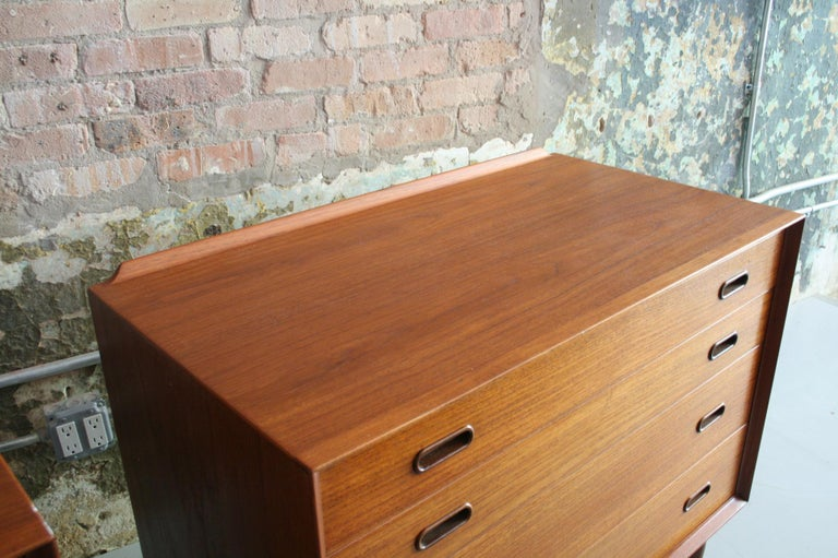 Teak Pair of Danish Dressers or Chests by Arne Vodder for Sibast Mobelfabrik, Denmark For Sale