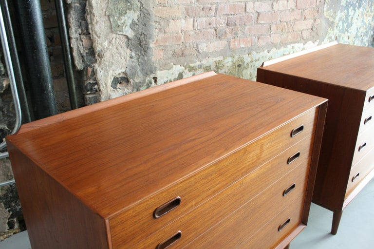 Pair of Danish Dressers or Chests by Arne Vodder for Sibast Mobelfabrik, Denmark For Sale 1