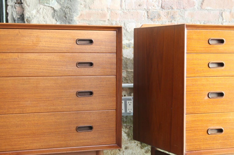 Pair of Danish Dressers or Chests by Arne Vodder for Sibast Mobelfabrik, Denmark For Sale 2