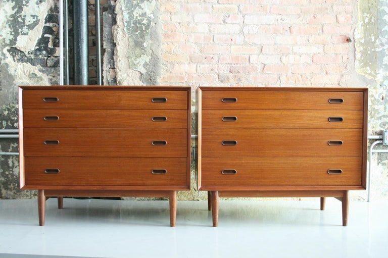 Pair of Danish Dressers or Chests by Arne Vodder for Sibast Mobelfabrik, Denmark For Sale 3
