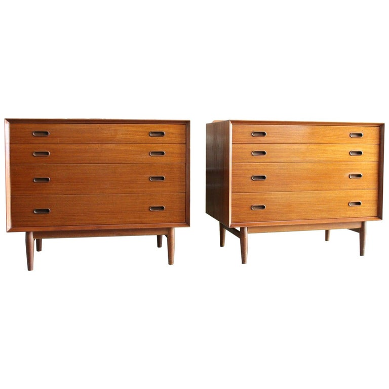 Pair of Danish Dressers or Chests by Arne Vodder for Sibast Mobelfabrik, Denmark For Sale