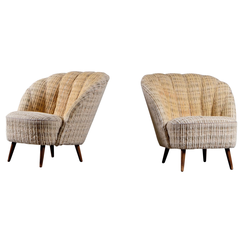 Pair of Danish Easy Chairs, 1940s