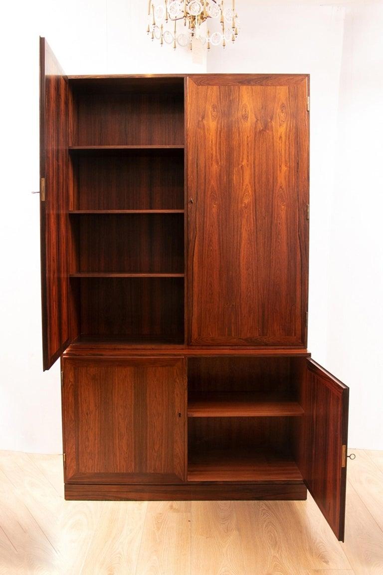 Pair of Danish Kai Winding Rosewood Alcove Bookcases, circa 1970 4