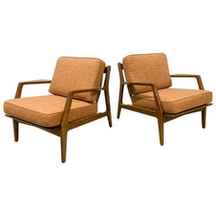 Pair of Danish Lounge Chairs by Lawrence Peabody