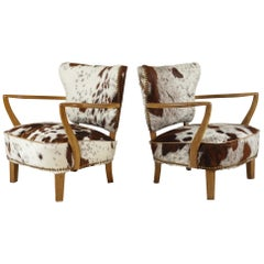 Pair of Danish Lounge Chairs by S Thrane & Søn