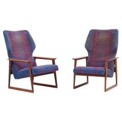 Pair of Danish Lounge Chairs, Denmark, 1960s