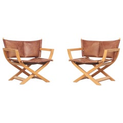 Pair of Danish Lounge Chairs made by Westnofa, Attributed to Børge Mogensen