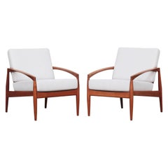 Pair of Danish Lounge Easy Chairs by Kai Kristiansen for Magnus Olesen in Teak
