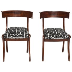 Pair of Danish Mahogany Klismos Chairs
