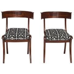 Pair of Danish Mahogany Klismos Chairs