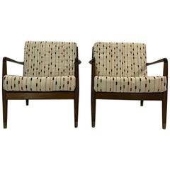 Pair of Danish Mid-Century Modern Lounge Chairs by Folke Ohlsson