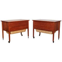 Pair of Danish Midcentury Bedside Tables in Teak, 1960s