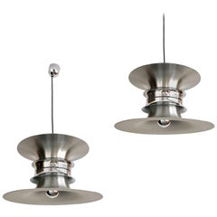 Pair of Danish Midcentury Chandeliers by Bent Nordsted for Lyskaer, 1970s