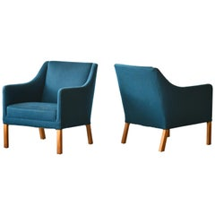 Pair of Danish Midcentury Lounge Chairs Attributed to Ejnar Larsen & Axel Bender