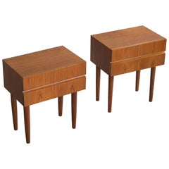 Pair of Danish Midcentury Nightstands in Teak in the Style of Ib Kofod-Larsen