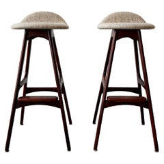 Pair of Danish Midcentury Bar Stools by Erik Buch
