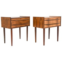 Pair of Danish Midcentury Rosewood Nightstands
