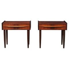 Pair of Danish Midcentury Rosewood Nightstands