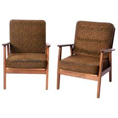 Pair of Danish Midcentury Teak Easy Chairs