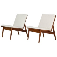 Pair of Danish Midcentury Teak Lounge Chairs